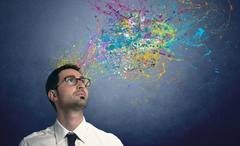 23576074 - concept of creativity of a businessman with colorful effect