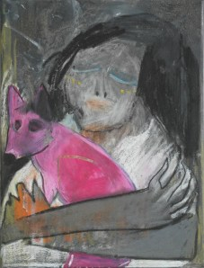 Mädchen mit Fuchs / K - girl with a fox / K