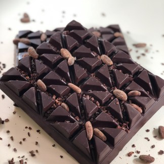 Tempered craft chocolate block