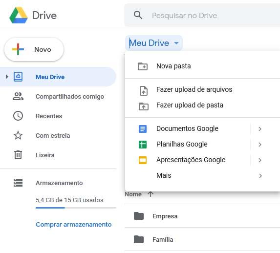 Utilização do Google Drive