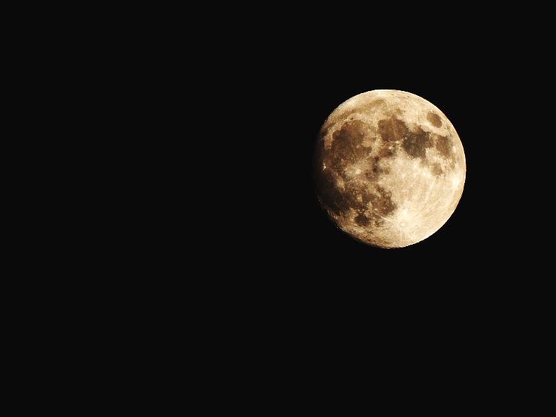 Mond, Fotografie, Nikon, Coolpix, Deutschland, Germany, Moon,