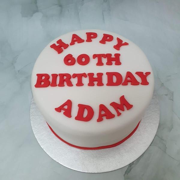 Simple Personalised Birthday Cake Delivered Milton Keynes