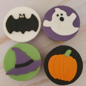 Halloween Cupcakes Bat, Witch Hat, Pumpkin, Ghost Marie Makes Milton Keynes Delivery