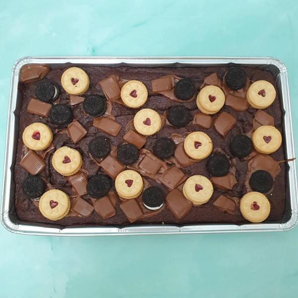 Vegan Loaded Brownie Traybake Delivered Milton Keynes