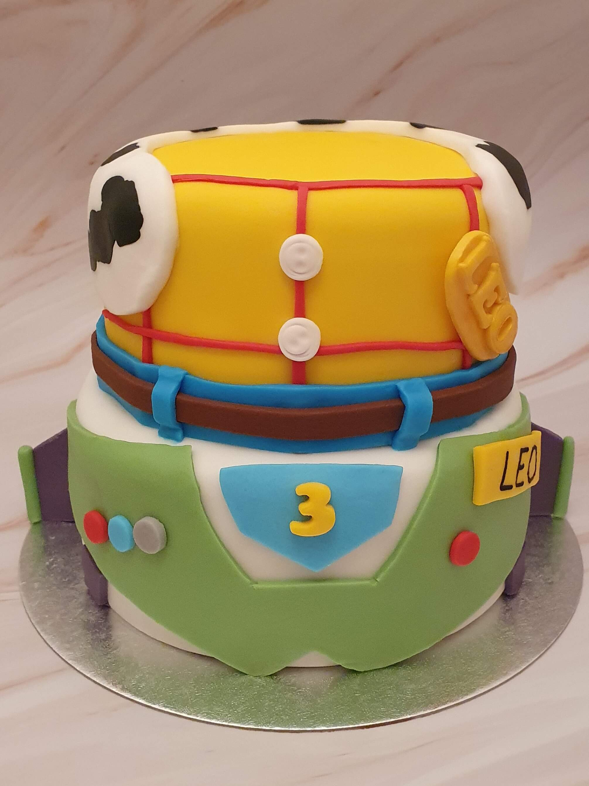Toy Story Buzz and Woody Bespoke Birthday Cake