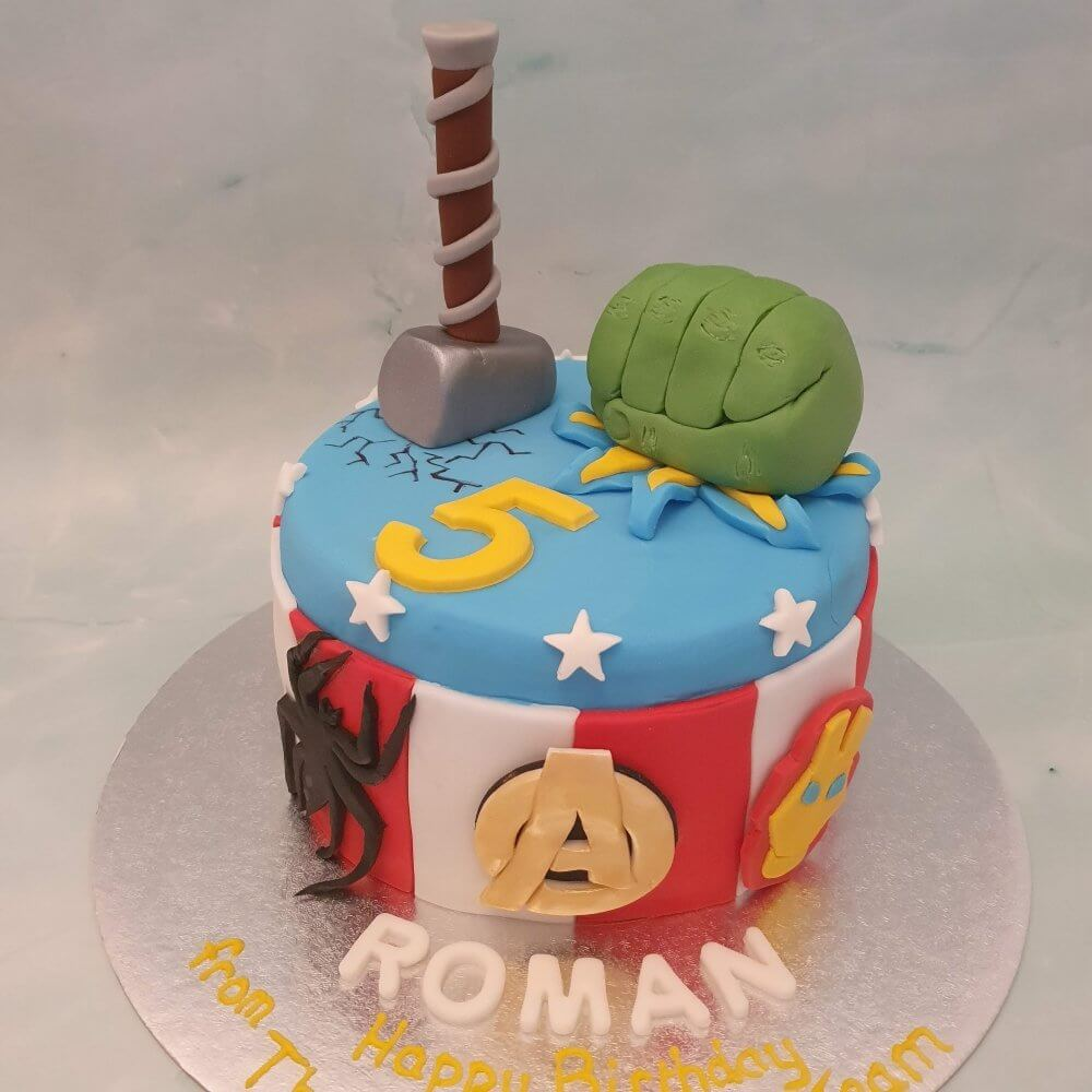 Avengers children's birthday cake