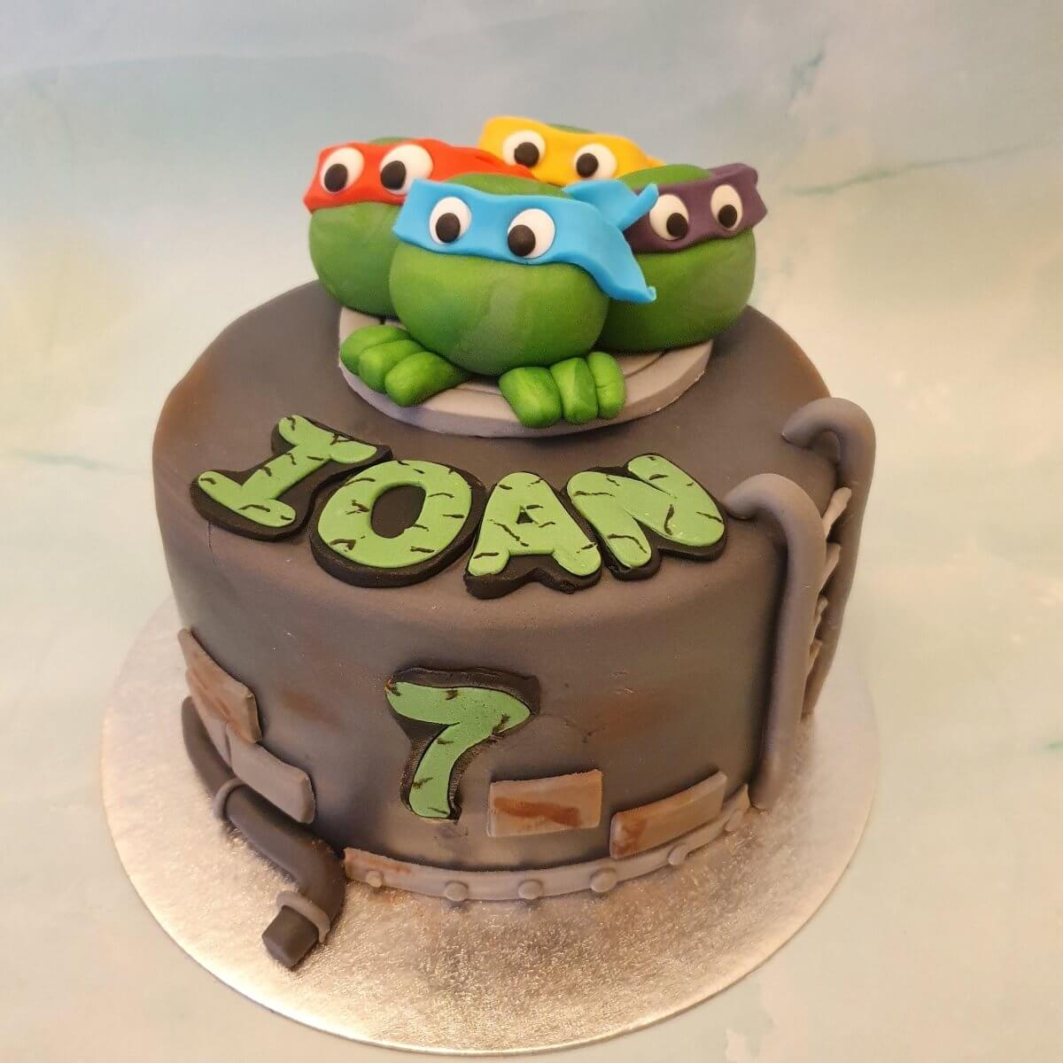 Ninja Turtles Children's Bespoke Birthday Cake Delivery Milton Keynes