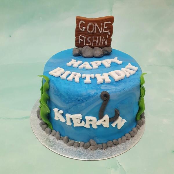 Personalised Fishing Birthday Cake Delivered Milton Keynes
