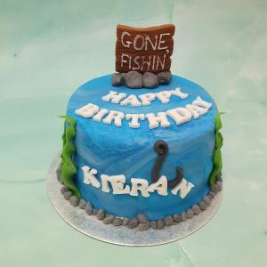 Personalised Fishing Birthday Cake Delivered Milton Keynes