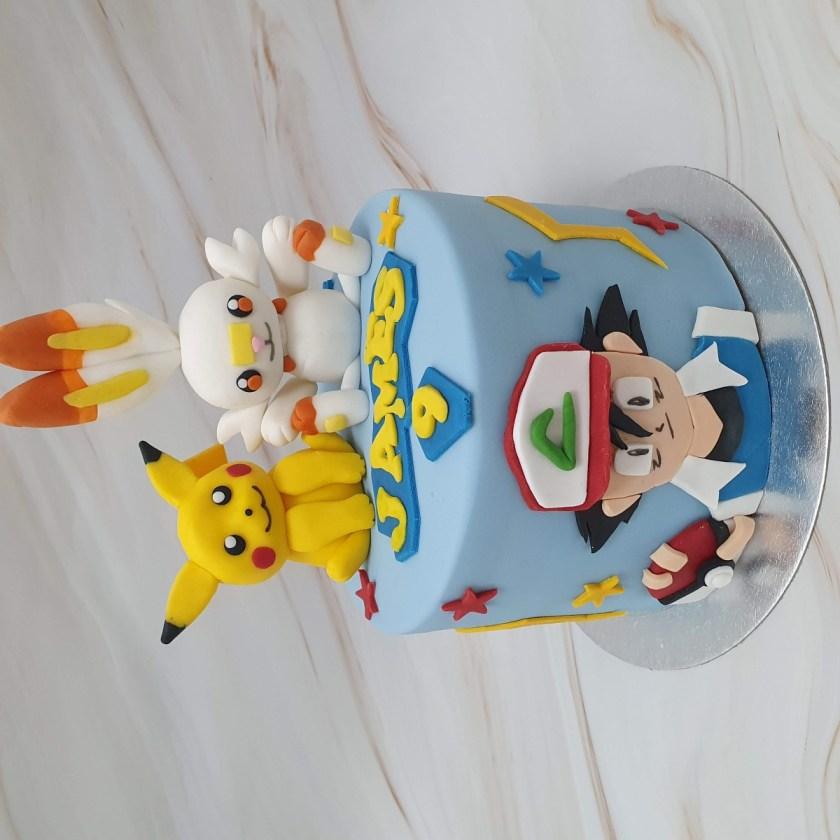 Pokemon Bespoke Children's Party Birthday Cake Delivered Milton Keynes