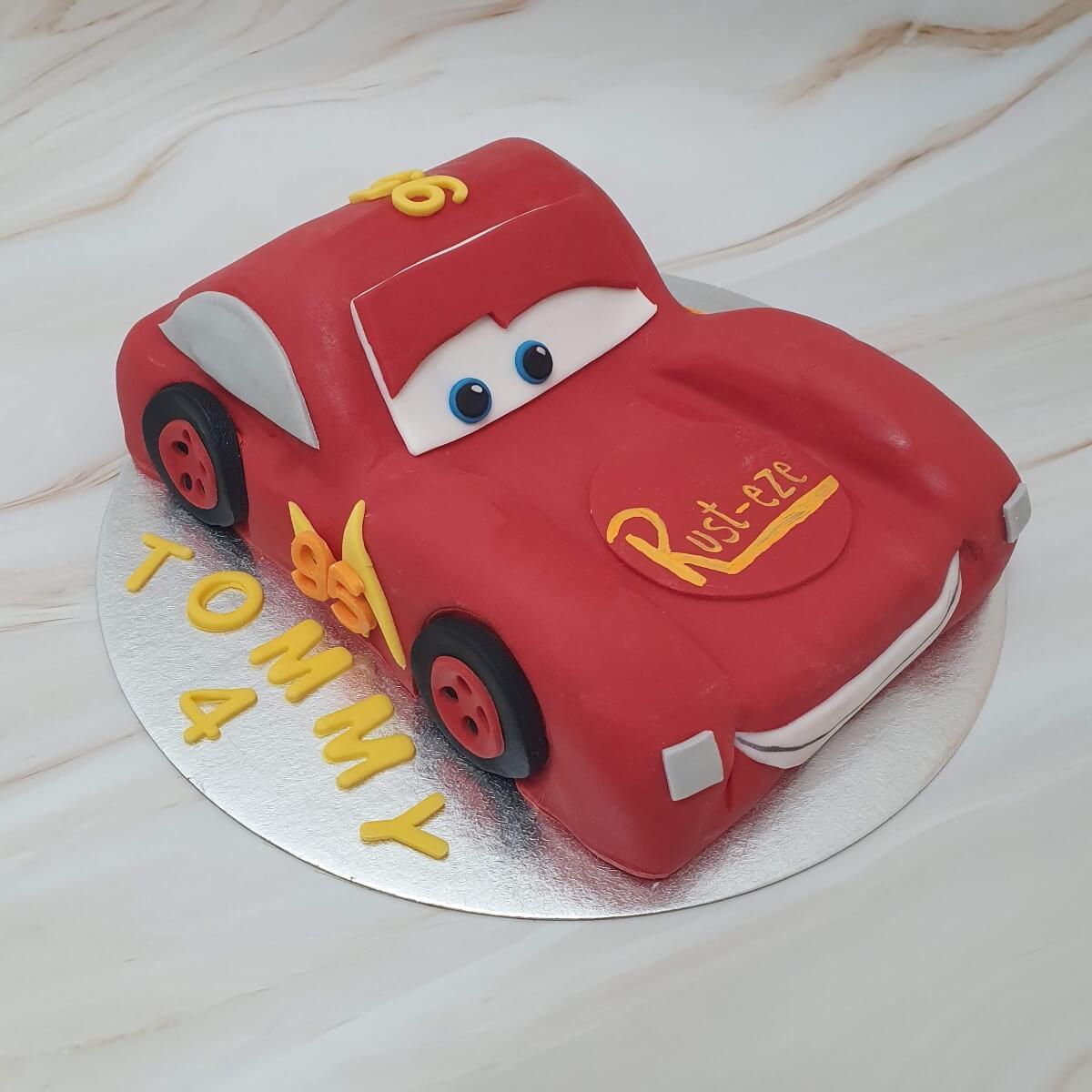 Lightning McQueen Cars Children's 3D Shaped Birthday Cake Maker Delivery Milton Keynes