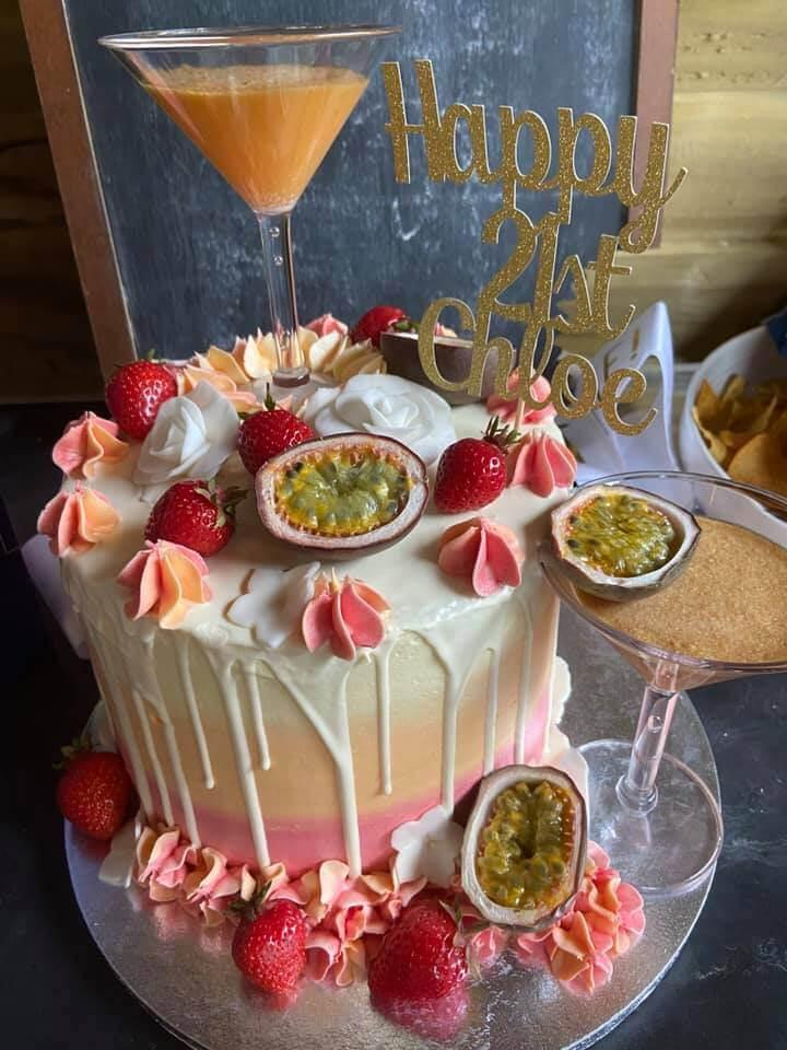 21st birthday passion fruit martini