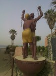 The slavery monument in Goreé
