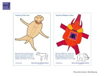 Papertoys réalisés pour le musée des Arts Asiatiques Guimet