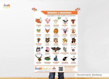 Réalisation d'un poster pour AIL Madrid : créations des illustrations et mise en page