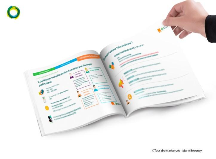 Mise en page d'un dossier pour Harris Interactive : client Orange