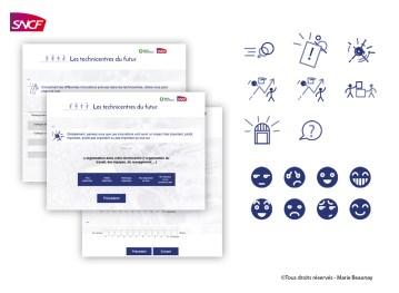 Réalisation de pictos pour un questionnaire destiné à la SNCF