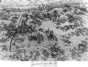 Ipres sous la neige hiver 1917
