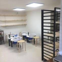 L'atelier, vue sur l'espace de tournage