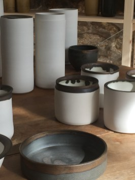 pots en porcelaine, détails, mariecarolinelemansceramique
