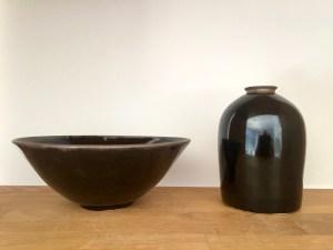 Bol et bouteille, collection Noir