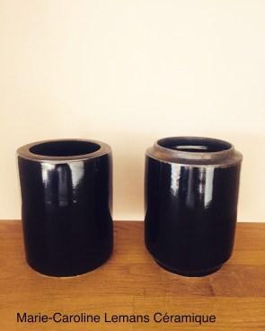 paire de vases lanterne, Noir, mclceramique