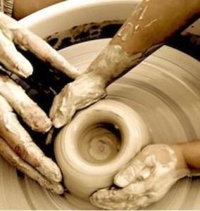 stage de poterie - tournage
