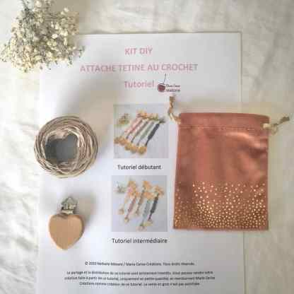 Kit DIY: crochet attache tétine sucette bébé