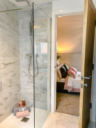 Springfields Show Homes Bathroom designed by Marie Charnley Interiors