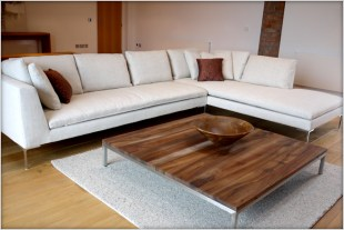 B+B italia Charles large white sofa at Marie Charnley Interiorss