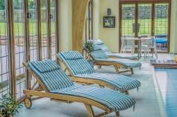 Sun Loungers : Ralph Lauren fabric at Marie Charnley Interiors