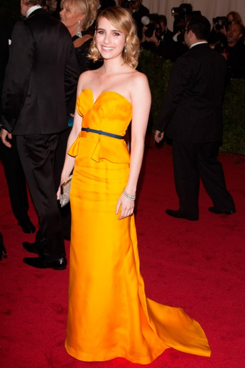 Emma Roberts at the Met Ball 2012 - Costume Institute Gala - Marie Claire