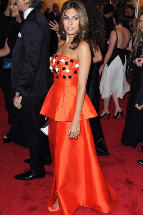 Eva Mendes at the Met Ball 2012 - Costume Institute Gala - Marie Claire