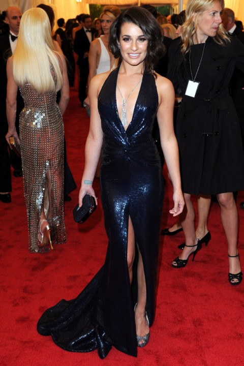 Lea Michele at the Met Ball 2012 - Costume Institute Gala - Marie Claire