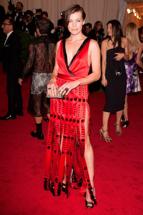 Milla Jovovich at the Met Ball 2012 - Costume Institute Gala - Marie Claire