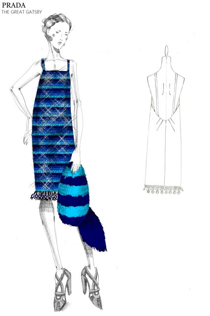 Miuccia Prada releases sketches of Great Gatsby costume designs