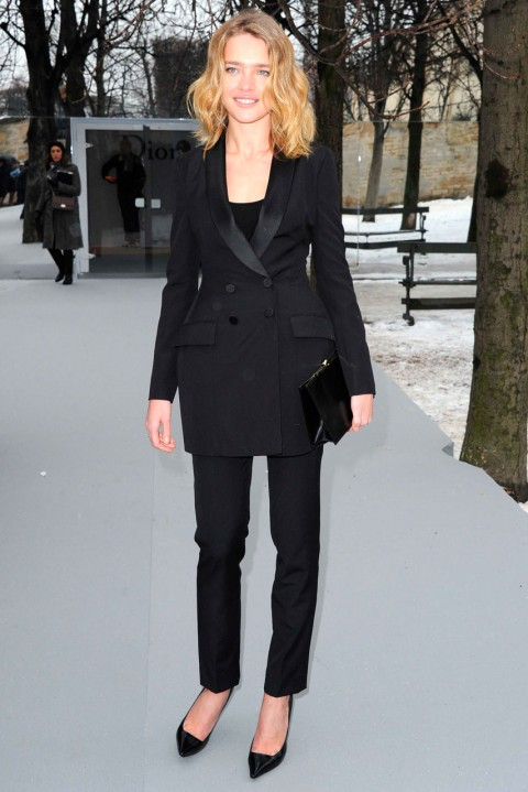 Natalia Vodianova at Couture Fashion Week spring/summer 2013 in Paris