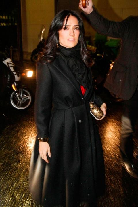Salma Hayek at Couture Fashion Week spring/summer 2013 in Paris