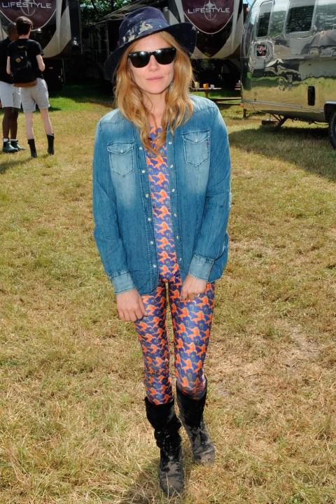 Sienna Miller at Glastonbury 2014