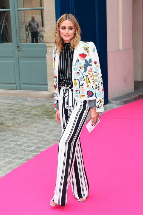 Olivia Palermo at Schiaparelli during Paris Couture Fashion Week July 2016