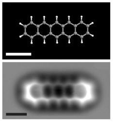 Imágen de una molécula de Pentaceno por AFM