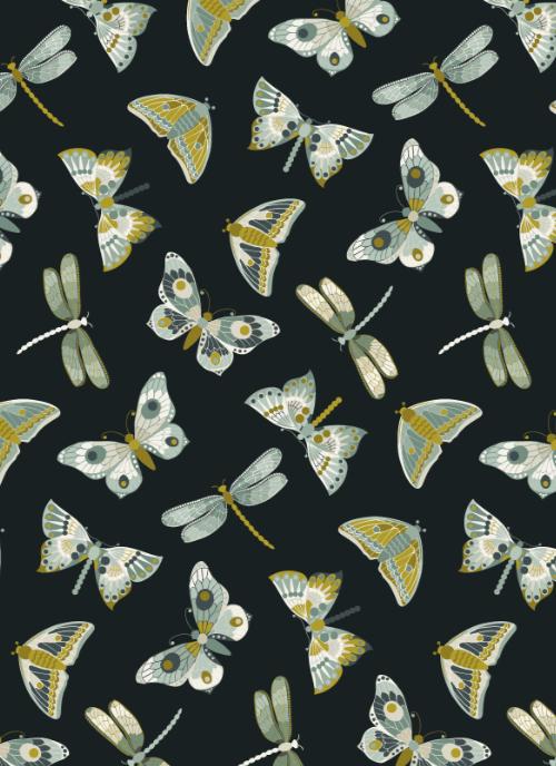 Art nouveau butterflies