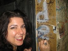 Writing my name on the wall in my very own dressing room(!!) at the Coach House (opening for Vienna Teng and Sara Watkins), San Juan Capistrano, CA – May 2010