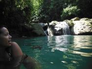 Swimming at beautiful Blue Hole