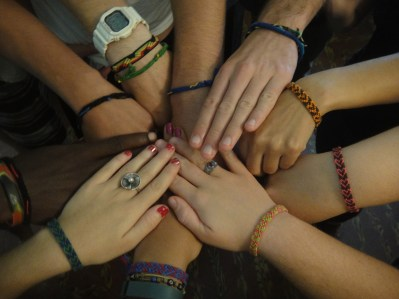 Our beautiful friendship bracelets from Claire