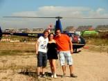 In een helikopter vliegen