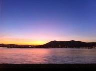 Sunset at the Txingudi bay - Hendaye. France