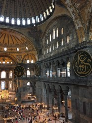 A view from above in Hagia Sophia