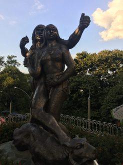 Cacique Nutibara statue, in the pueblito paisa