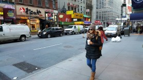 Walking around cold NYC